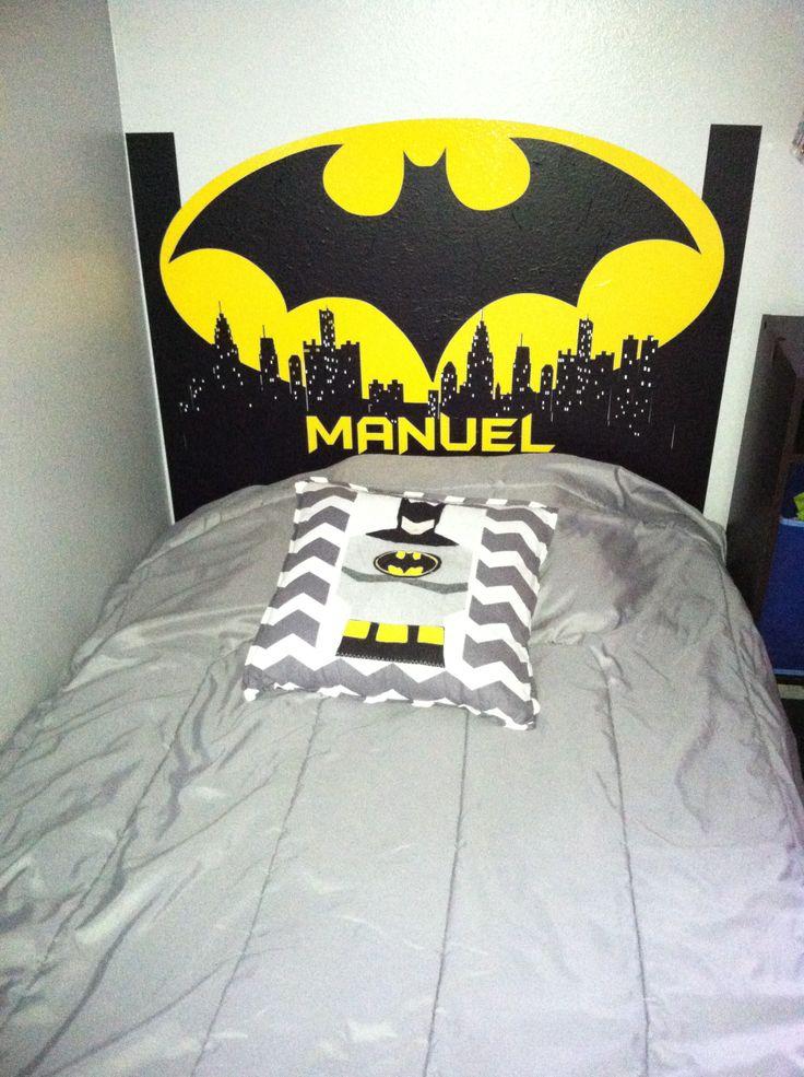 Batman Headboard In Vinyl Super Heroes Room Decor In