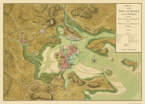Boston Circa 1776  American Revolution  Pinterest  Maps