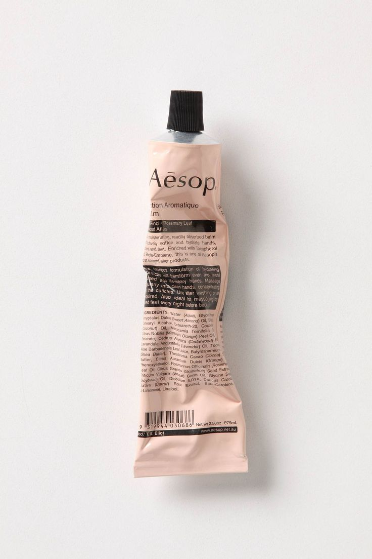 aesop. design typography package label punchy color