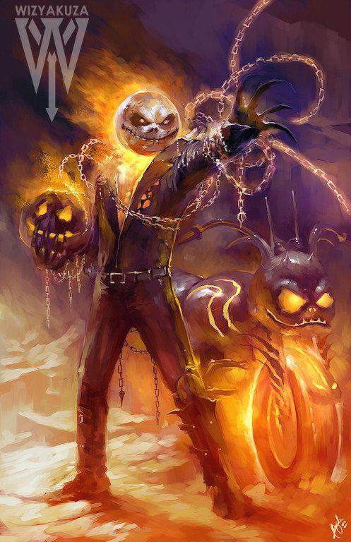 Jack Skellington et Ghost Rider J'adore