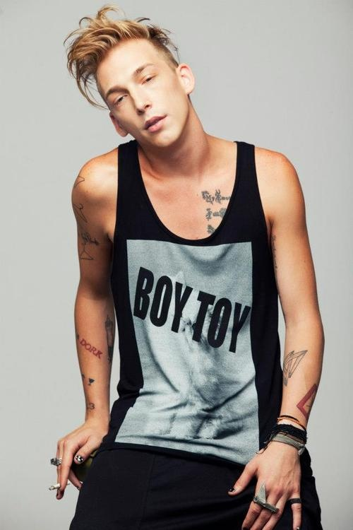 BOY TOY tank top out soon! clumsy-cat.com