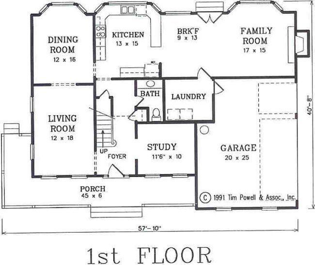 A 4 Bedroom 3 Bath Cottage House Plan Ask Us About Customization House Plans Colonial House Plans Cottage House Plans