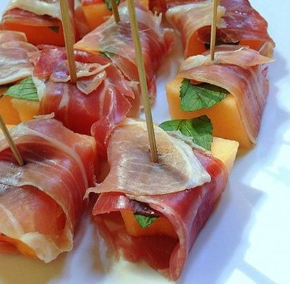 Prosciutto Wrapped Cantaloupe... Happy Hour Appetizers 20 | Hampton Roads Happy Hour - 1.9.4