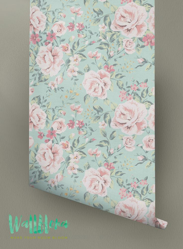 Rose Pattern Wallpaper | Rose Wallpaper | Removable Rose Wallpaper | Rose Wallpaper | Rose Wall Sticker | Wall Decal | 008