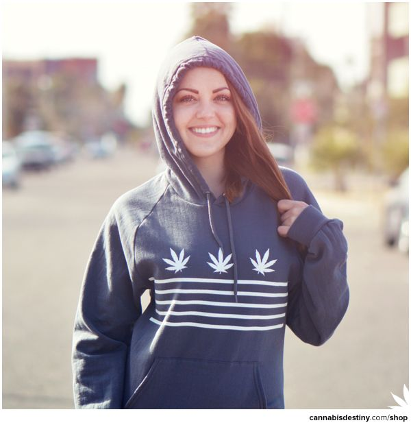 Weed & Stripes Pullover Hoodie - Cannavore #americanapparel #hoodie #cannabis #marijuana #stonerfashion