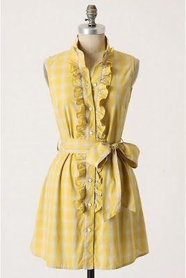 Make this beautiful dress from a men's dress shirt