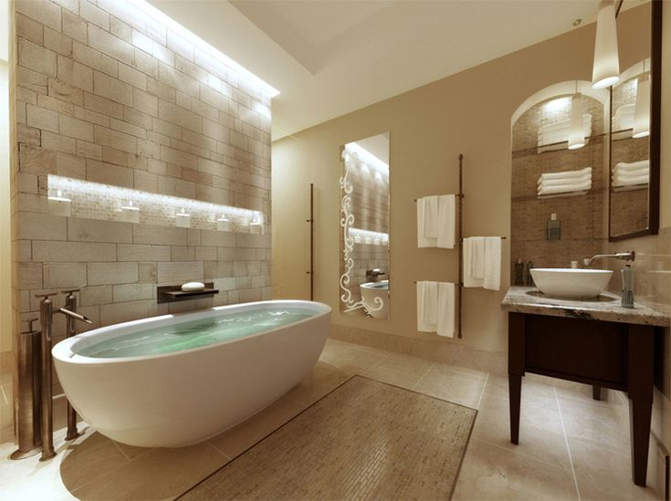Tranquil Spa Inspired Bathroom Powder Room Pinterest
