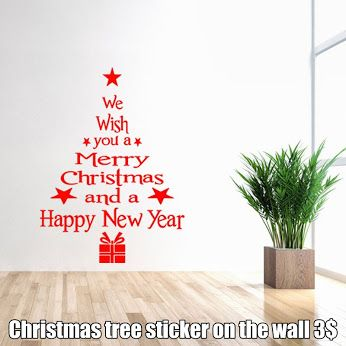 Christmas tree sticker on the wall Great Christmas decoration. The sticker can be stuck on any smooth surface, eg. On the wall, closet, on the window, on the refrigerator, and others. With this sticker your house will become a beautiful festive atmosphere. Welcome to our store for more inspiration for Christmas decorations. https://www.cosmopolitus.com/home-decor-christmas-tree-shape-wall-decorative-sticker-christma-p-241211.html?language=en&pID=241211 #sticker #Christmastree #decoration