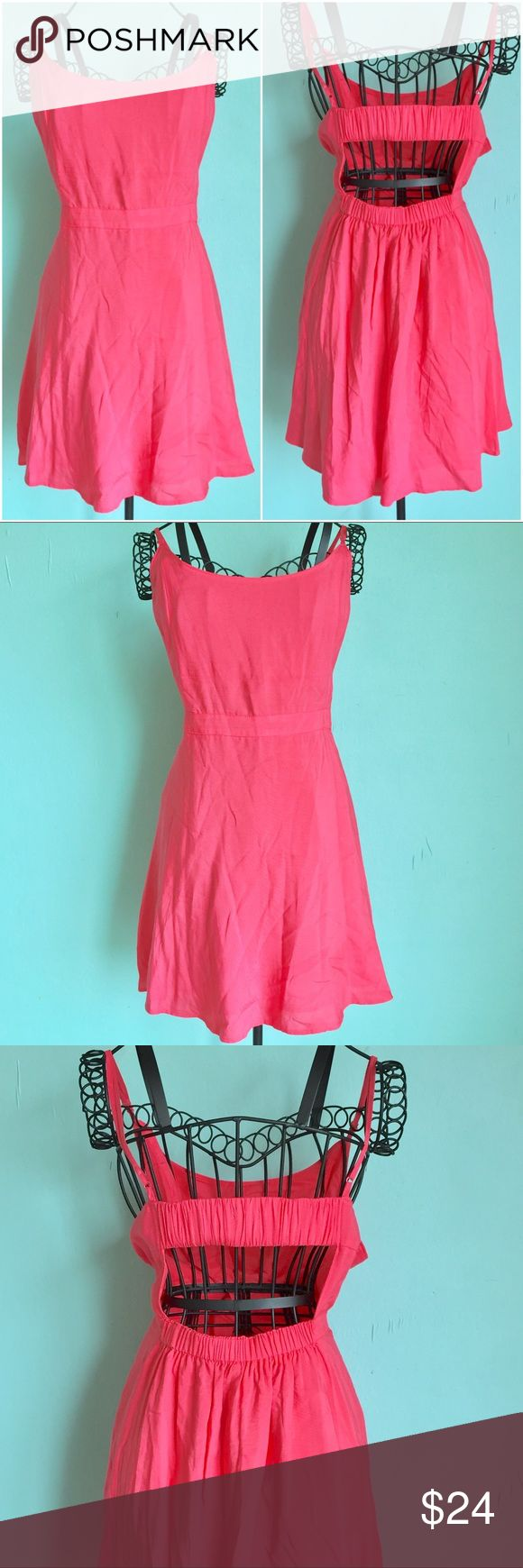 🔥1 HOUR SALE🔥American Eagle Skater Dress Up for sale American Eagle adjustable straps with open back. Beautiful salmon color, bought it never got to wear it out, practically new. Perfect little dress for summer. Size: Large. Check out my closet, bundle and give me your offer! American Eagle Outfitters Dresses