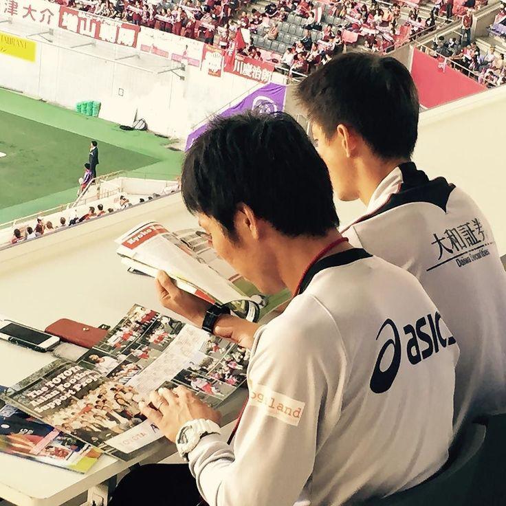 Caught Vissel Kobe coaches reading JSoccer Magazine! #jleague #visselkobe by jsoccermagazine