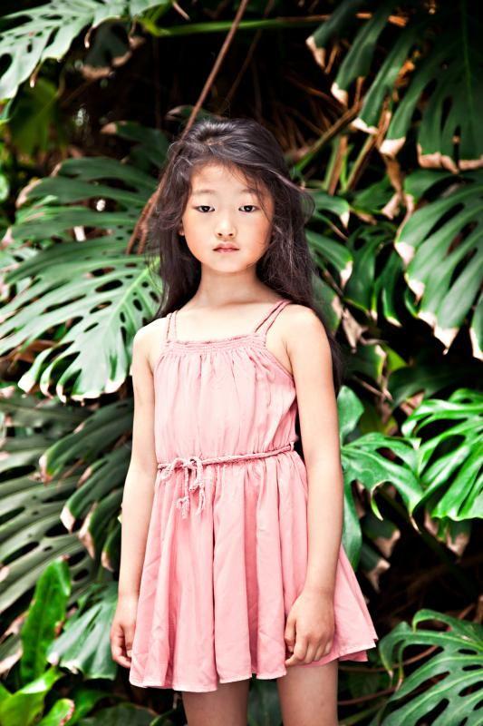 Morley stunning girl in a tropical garden - kids fashion