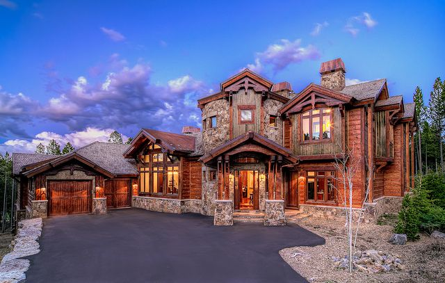 Mountain home beautiful house exterior hdrhomes for Mountain dream homes