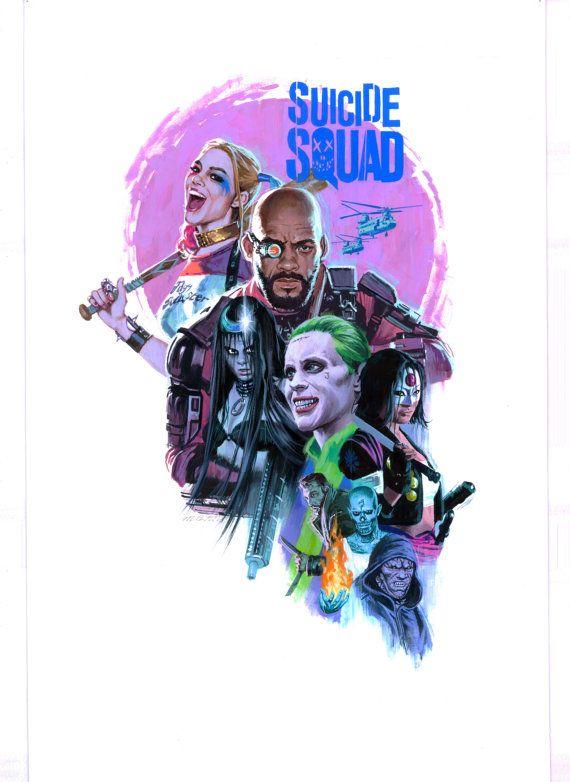 Escuadrón de suicidio, suicidio Squad Poster, Harley Quinn Poster, cartel de Deadshot, muertos tiro, Joker cartel, cartel de hechicera, cartel de Killer Croc