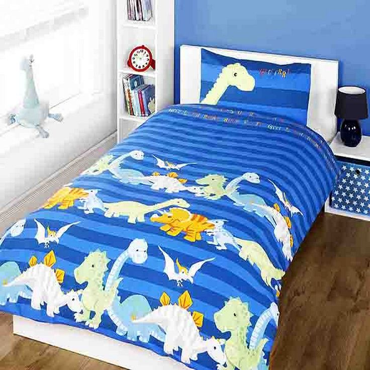 Dinosaur Childrens/Boys Duvet Cover Bedding Set (Twin) (Blue) //Price: $8.11 & FREE Shipping //     #hashtag3