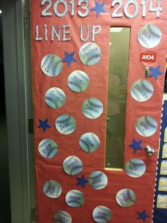 What a fun idea for the baseball classroom theme!