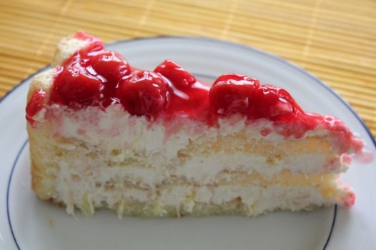 Pineapple Cream Cheese Ladyfinger Cake.  Love this!  Great with fresh strawberries on top...