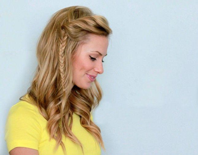 Side Twist Fishtail Braid | 28 DIY Hairstyles