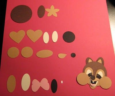 Chip and Dale the chipmunks Stampin' Up! Punch Art Disney