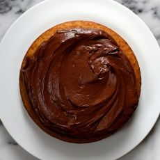 How To Make The Best Chocolate Buttercream Frosting | Joy the Baker( this one calls for chocolate ovaltine powder & a little heavy cream to help stabilize it).