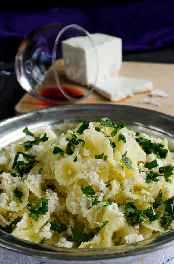 Pasta with Feta and Parsley | giverecipe.com | #pasta #feta