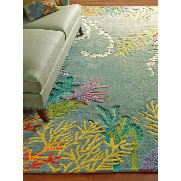 Ocean House Rug: To-Bay-Go-Hand-Tufted Wool Multi-Colored Area Rug In 2019