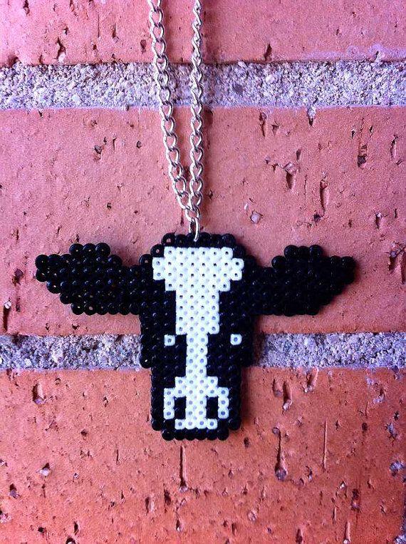 cow mini  hama beads necklace / rockabilly by LollipopPinUpStore, €5.30