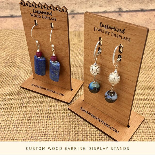 Small earring stands for craft show display