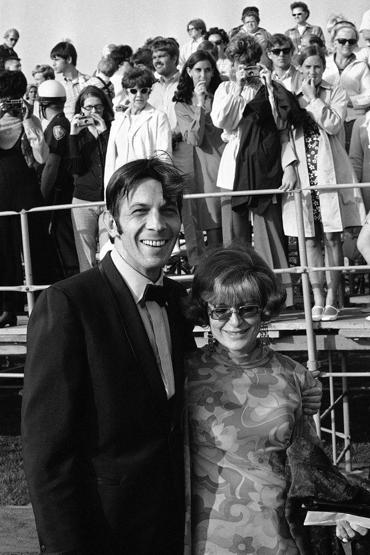 Leonard Nimoy and his wife Sandra Zober arrive for the 21st Annual Emmy Awards in 1969.