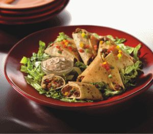 MorningStar Farms® – Cheesy Black Bean Quesadilla Triangles Recipe
