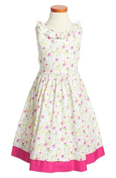 Pansies drop waist dress little girls big girls big girls dresses
