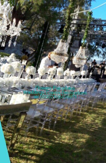 flowers4u.gr : γαμος με λευκες ορτανσιες στο Island !Wedding with white hydrangea at Athens Riviera Island