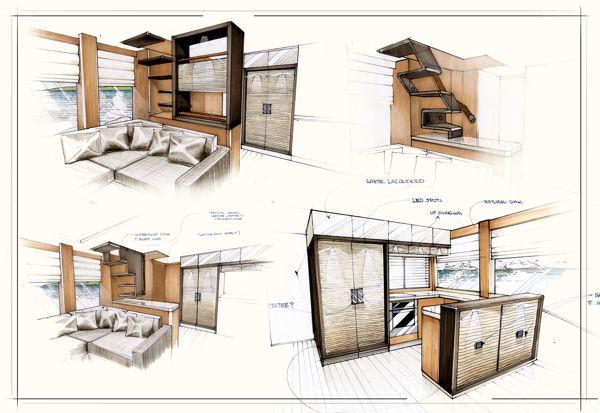 Interior Motoryacht Concept, by Sean Bekeschus