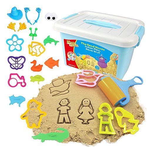 Motion Sand, 1.76 lbs. Sand, Deluxe Bucket, Creative Playset, Play Sand with Sand Molds - Product Description:Have endless hours of fun with the Motion Sand Fun Beach sand box, creating brilliant castle and animal sand shapes, molds, or create your own sculptures. It's easy to shape and mold. Motion Sand is helpful in promoting children's imagination and creation, improving coordinati...