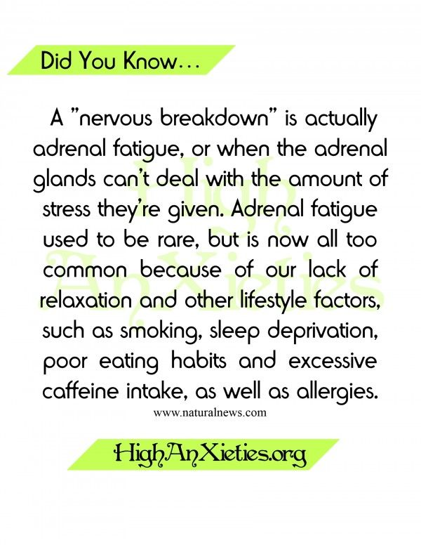 "Did You Know.. A ""Nervous Breakdown"" Is"