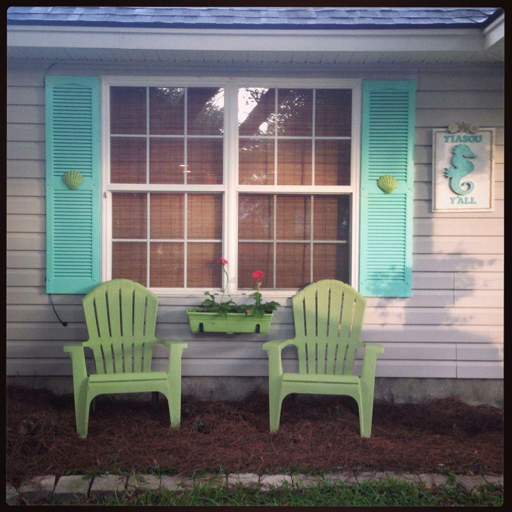 Creative Beach House Names Part - 17: Turquoise   Aqua Beach House Front Door Ideas - DIY Mermaid House Number  Sign - DIY Beach House Name Sign With Seahorse - Cast Iron Crab Door  Knocker ...