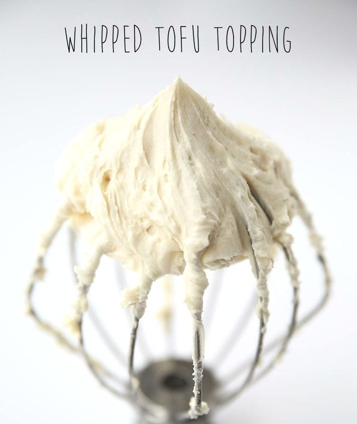 Silken Tofu Whipped Topping // sugar-free (can use sweetener of your choice, as needed)
