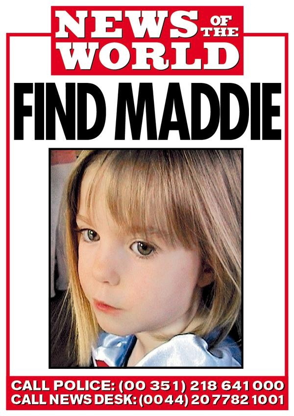 "Like little Madeleine ""Maddie"" McCann, children around the world, including the US, come up missing every single day.  Most are never found.  My heart breaks for these children."