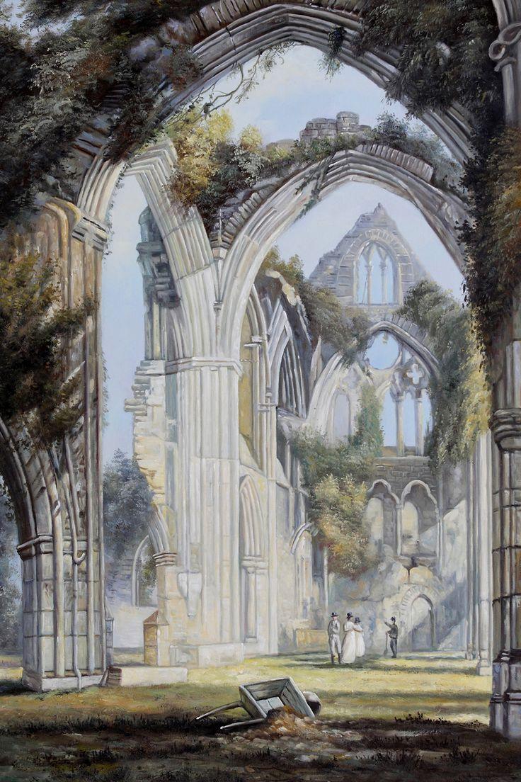 "Joseph William Turner - ""Tintern Abbey"" oil painting reproduction.  OverstockArt.com"