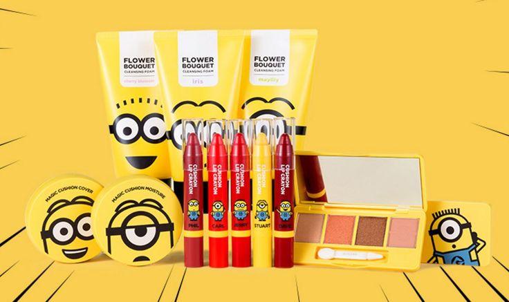 [MISSHA] Minions Edition Sets (Total 12pcs)- Magic Cushion, Lip Crayon, Eye Shadow, Cleansing Foam