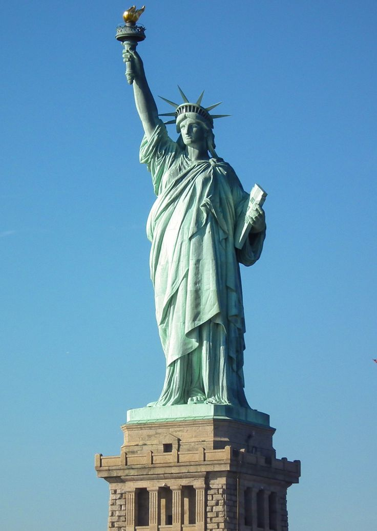 Did you know that Lady Liberty's crown has seven spikes representing the seven seas and seven continents of the world?