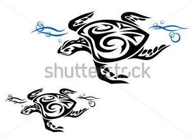 Želva v oceánu vody v kmenové stylu tetování design, jako logo. JPEG verze k dispozici také v galerii