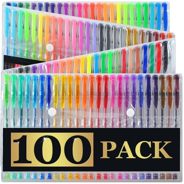 100 Gel Pens Set Pen Glitter Neon Metallic Color Art Coloring Books Colors Craft #ArtistsChoice