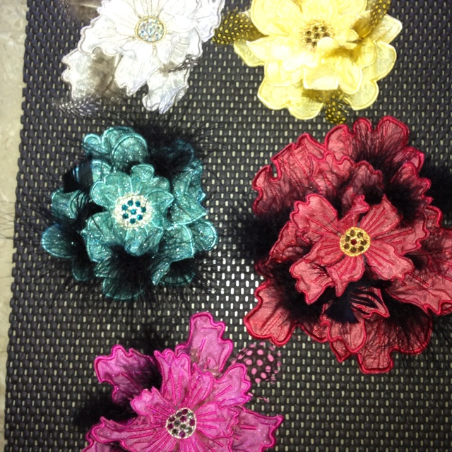 These I made using Jenny Haskins 3 d embroidery program... Fun stuff