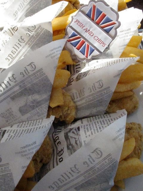 Fish & Chips wrapped in newspaper