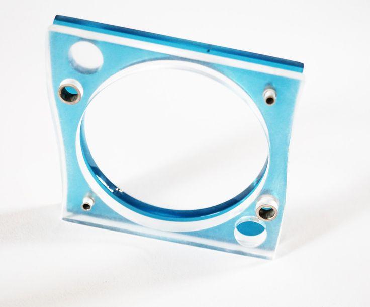 E. Salwierz Design-Plexiglass Sterling Silver Bracelet no. 1190KA by APPUSSTUDIOJEWELLERY on Etsy
