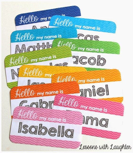 Chevron Name Tags for Student Chairs - Lessons With Laughter