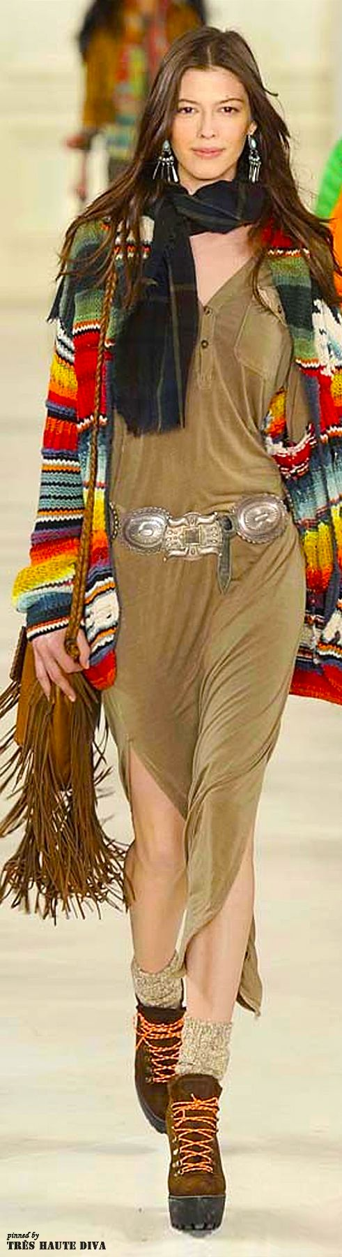 #NYFW Polo by Ralph Lauren Fall/Winter 2014...hippie Cowgirl!!