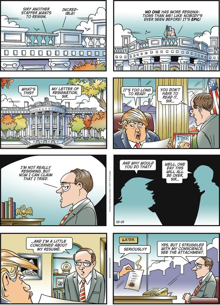 Welcome to Doonesbury's web site, which features not only each day's strip (easily enlargeable for your easy-viewing pleasure), but also the daily SayWhat? quote, a constant flow of reader Blowback, a Mudline of negative soundbites by public figures, a Straw Poll, Today's Video, the original Yale Strips, a Timeline, Cast Bios, a milblog called The Sandbox, and much more.