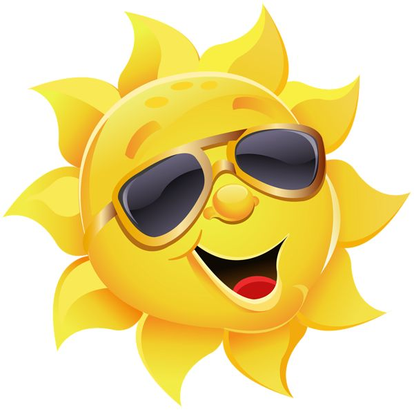 Sun with Sunglasses PNG Clipart Image   Summer clip ...