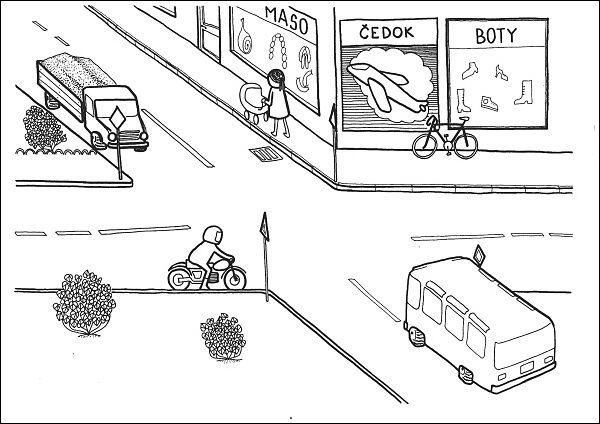 Situační obrázky - Ulice křižovatka